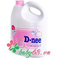 Dung dịch giặt xả Dnee 3000ml (màu hồng)