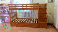 Picture of Giường ba tầng Bella BB165 màu tự nhiên